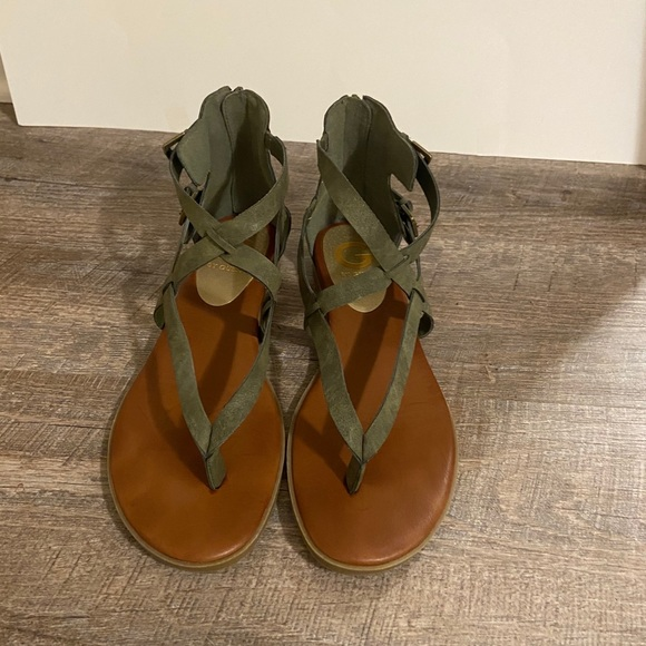 Guess Olive Green Camrin Sandals